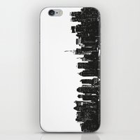 wwe iPhone & iPod Skins featuring New York black and white high quality art print by eARTh