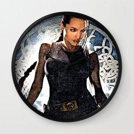 Angelina Jolie as Lara Croft Wall Clock