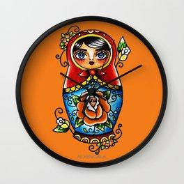 Matryoshka Doll Wall Clock