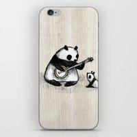 banjo iPhone & iPod Skins featuring Banjo Panda by Sophie Corrigan