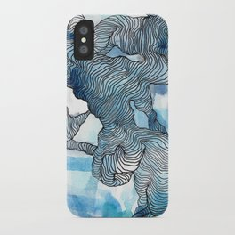 Blue Labyrinth iPhone Case