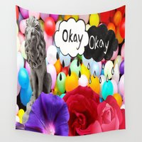 okay Wall Tapestries featuring okay... by Aldo Couture
