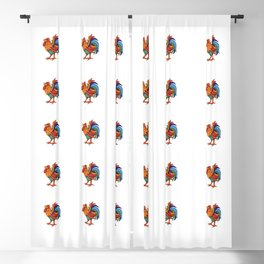 Colorful Rooster Blackout Curtain