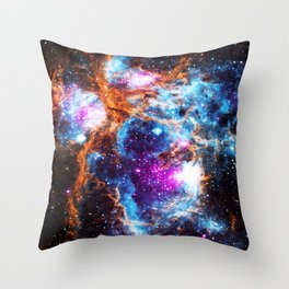 Cosmic Winter Throw Pillow