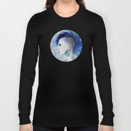 Watercolor Mohawk Long Sleeve T-shirt
