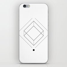 Inverted square geometry white iPhone & iPod Skin
