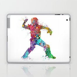 Baseball Softball Catcher 3 Art Sports Poster Laptop & iPad Skin