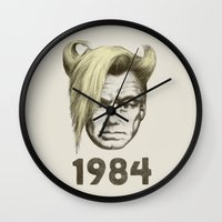 1984 Wall Clocks featuring 1984 by Eric Fan