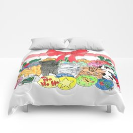 Christmas kittens Comforters