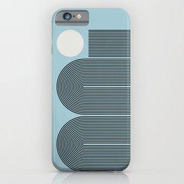 Abstraction_SUN_LINE_ART_Minimalism_001BL iPhone Case