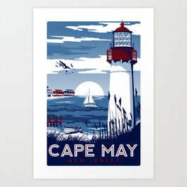 Cape May New Jersey Vintage Travel Poster Art Print