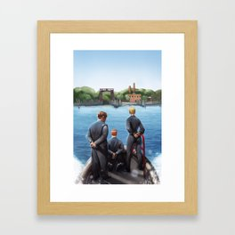 NORTH BROTHER ISLAND ISSUE #1 COVER Framed Art Print