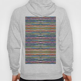 Abstract Multi-coloured Stripes 626 Hoody