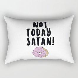 Not Today Satan (Donut) Rectangular Pillow