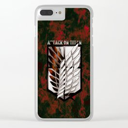 Attack on Titan Corps Clear iPhone Case