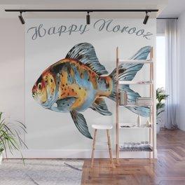 Happy Norooz Shubunkin Goldfish Persian New Year Wall Mural
