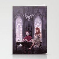 the office Stationery Cards featuring Hades' Office by elvishness