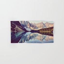 Moraine Lake Reflection Hand & Bath Towel