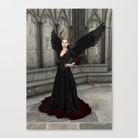 evil queen Canvas Prints featuring Evil Queen by Design Windmill