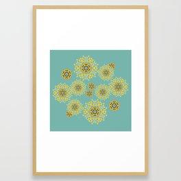 bee's flowers Framed Art Print