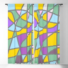 Stain Glass Abstract Meditation Easter Painting Blackout Curtain