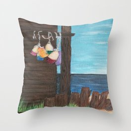 Buoys and Wood  Throw Pillow