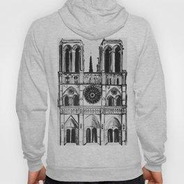 Notre Dame de Paris, cathedral, illustration Hoody