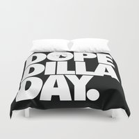 hiphop Duvet Covers featuring Dope Dilla Day by Rhashad
