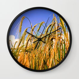 Golden Harvest Wall Clock