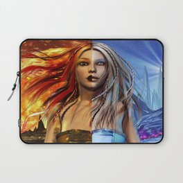 Fire and Ice Fantasy Art Laptop Sleeve