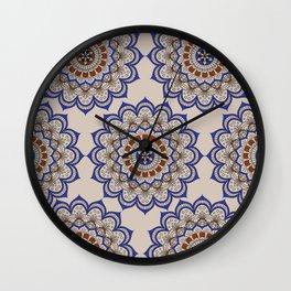 Mandala Of Life Wall Clock
