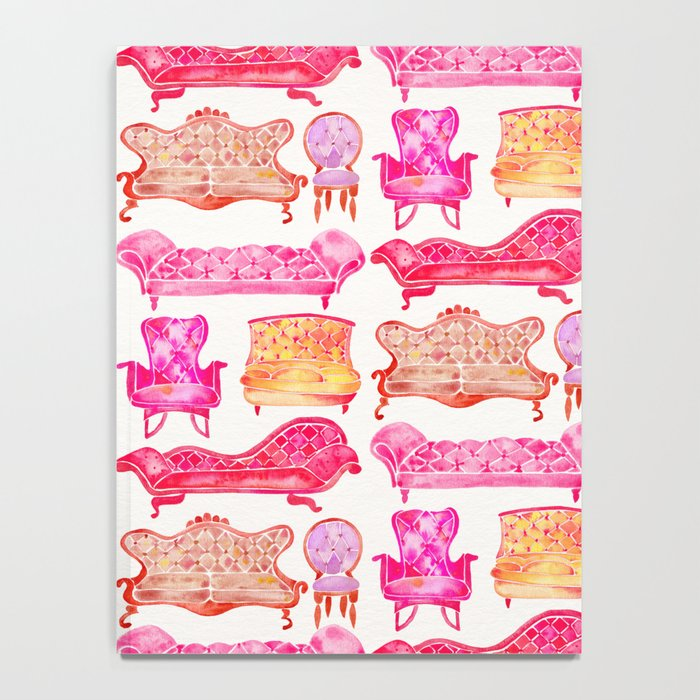 Victorian Lounge – Pink Palette Notebook