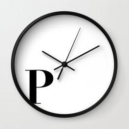 Initial P Wall Clock