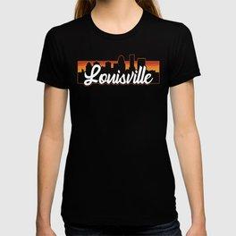 Vintage Louisville Kentucky Sunset Skyline T-Shirt T-shirt