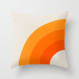 Creamsicle Bow Throw Pillow
