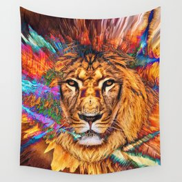 Iron...Like A Lion...In Zion Wall Tapestry