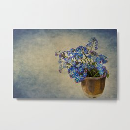 Forget-me-not flowers Metal Print