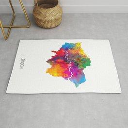 London Watercolor Map Rug