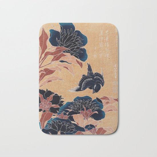 japanese flowers Bath Mat
