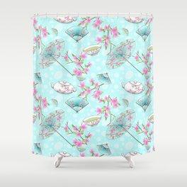 Japan Asia Cherry Blossom Geisha Geiko Shower Curtain