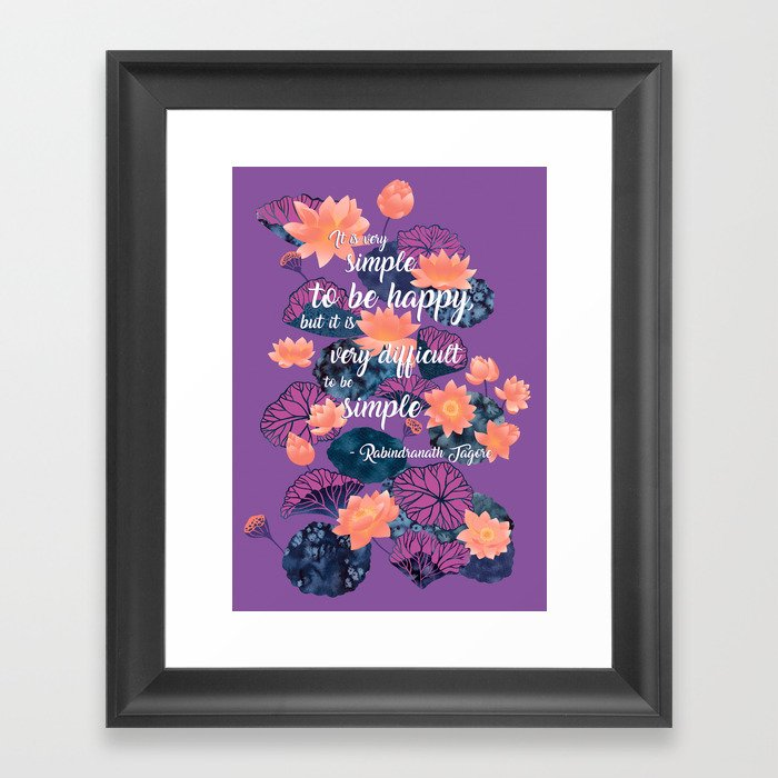 Literary Quotes Poetry Tagore Water Lilies Lotus Botanical Floral