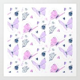 The Butterfly Effect - Pink Art Print