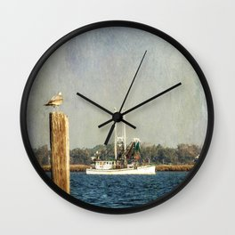 Shrimp Boat Wall Clock