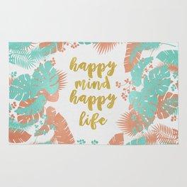 Happy Mind Happy Life Rug