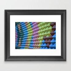 Pyramid Spikes Framed Art Print