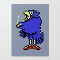 earthbound Canvas Prints featuring Crow - Mother / Earthbound Zero by Studio Momo╰༼ ಠ益ಠ ༽