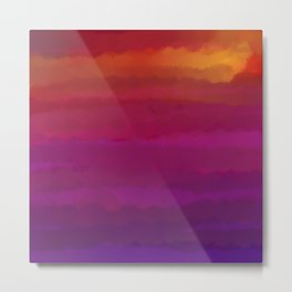 Abstract Sunset 1 Metal Print