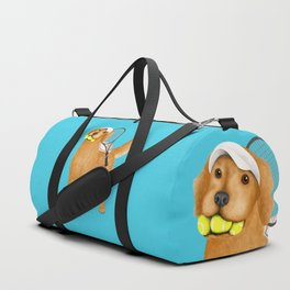 Ready for Tennis Practice (Blue) Duffle Bag