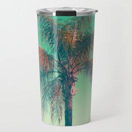 Red palm tree Travel Mug