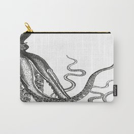 Half Octopus (Right Side) | Black and White Carry-All Pouch